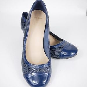 Cole Haan Womens Wedges Blue